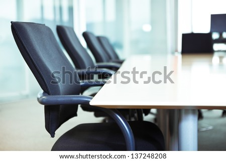corporate office chairs - stock photo