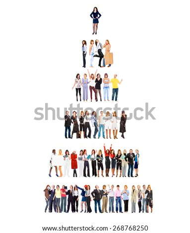 Corporate Teamwork Isolated Groups  - stock photo