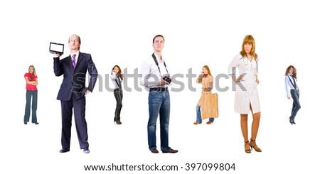 Corporate Teamwork People Order  - stock photo
