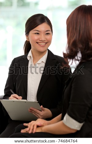 Corporate themed image of business people - stock photo