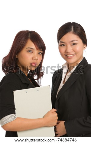 Corporate themed image of business women - stock photo