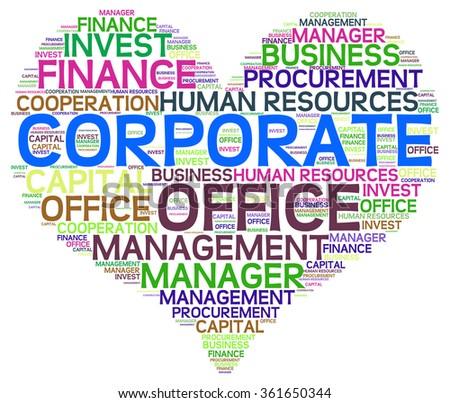 CORPORATE word cloud, business concept
