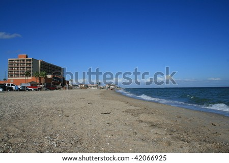 Corpus Christi Beach Tourist Area - stock photo