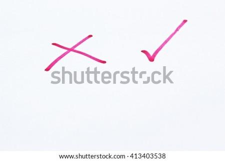 Correct or incorrect - stock photo