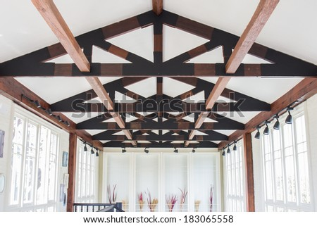 Corridor and Celling - stock photo