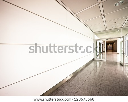 corridor at a building in rome - stock photo