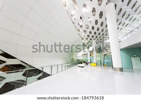 corridor in modern building - stock photo
