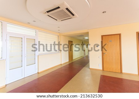 Corridor of office building  - stock photo