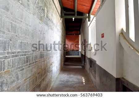 Corridor of old building, South of China