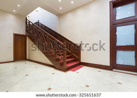 Corridor with stairs - hotel interior