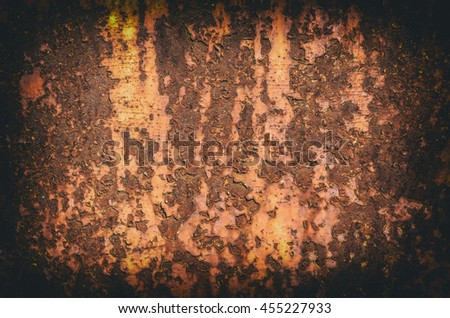 Corroded and damaged metal surface as background