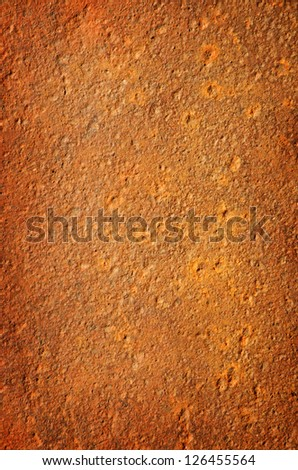 corrosed metal list, shot as background - stock photo