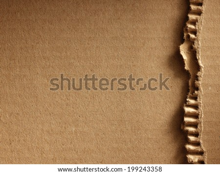 Corrugated cardboard as a background - stock photo