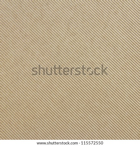 Corrugated cardboard background diagonal texture - stock photo
