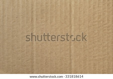 Corrugated Cardboard Background, Texture, Above View