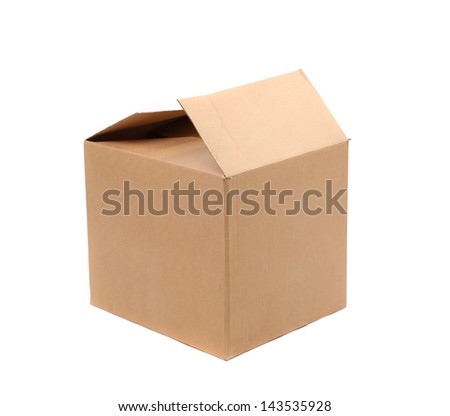 Corrugated cardboard boxes on a white background