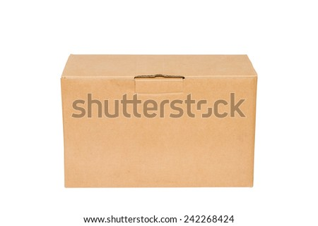 Corrugated cardboard boxes on white background