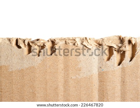 Corrugated cardboard isolated on white as a background - stock photo