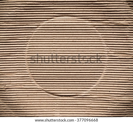 Corrugated cardboard paper, abstract  texture background - stock photo