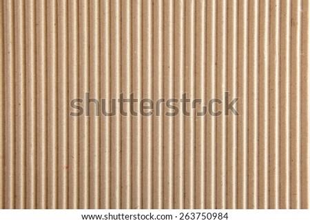 corrugated cardboard texture. Square to image dimension. - stock photo