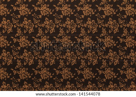 corrugated cardboard texture with ornament