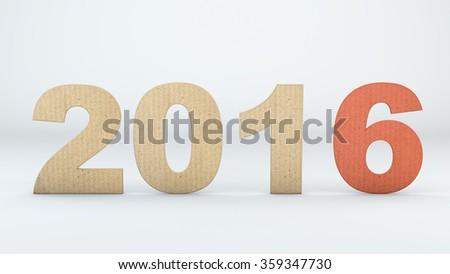 Corrugated fibreboard for New Year - stock photo