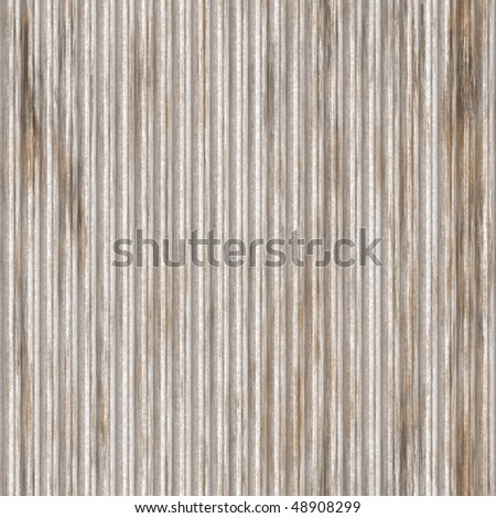 Corrugated metal ridged surface with corrosion seamless texture - stock photo