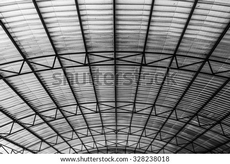 Corrugated metal roof for storage or warehouse. Insulation under roof protection surface heat.  sc 1 st  Shutterstock & Roof Sheet Metal Corrugated Roof Factory Stock Photo 366520229 ... memphite.com