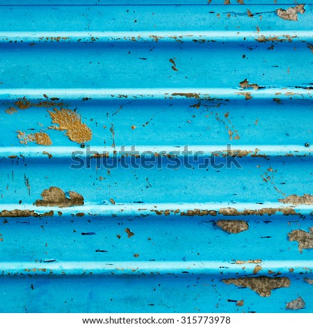 Corrugated metal sheet background - stock photo