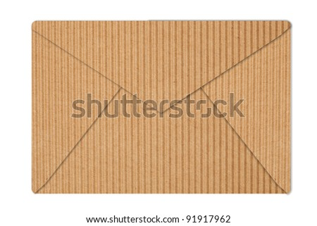 corrugated paper letter