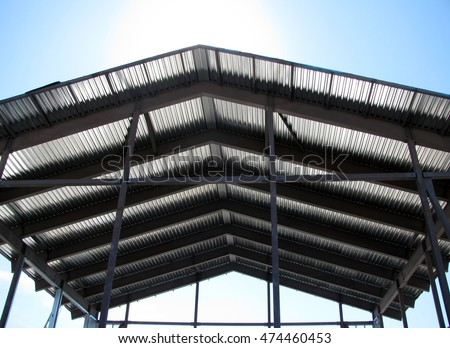Corrugated roof top for storage or pavilion