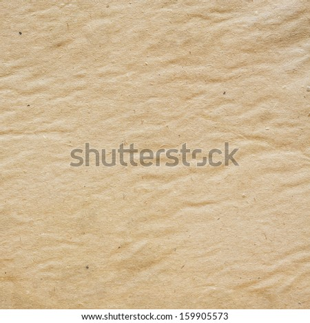 Corrugated vintage paper texture or background