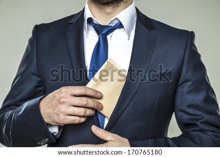 corruption in business - stock photo