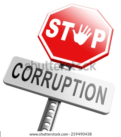 corruption paying bribery political government or police stop corrupt politicians   - stock photo