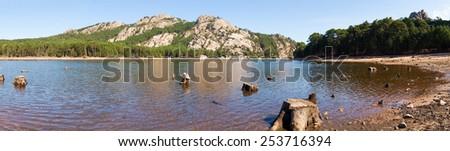Corse - Corsica, France: The Lake of 'hospital - stock photo