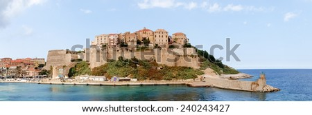 Corse - Corsica, France: Town of Calvi from the ferry