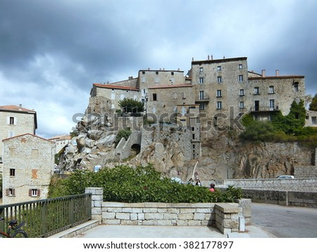 Corsica-a view of the citadel in Sartene