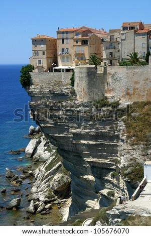 Corsica Bonifacio a town in Corsica, France - stock photo