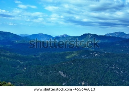 Corsica-view by the inland