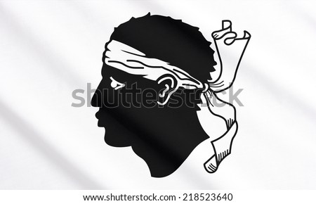 Corsica waving flag - stock photo
