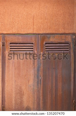Corten Steel Doors Close Up