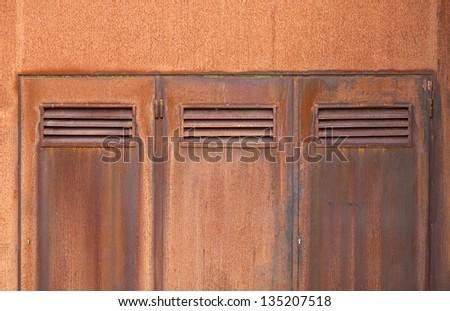 Amazing Corten Steel Doors Close Up