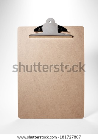 Cortical clip board on white background