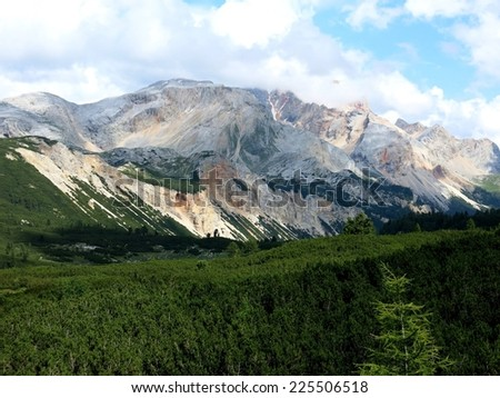 Cortina d'Ampezzo mountains wilderness nature Alps, Italy.