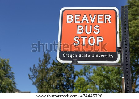 Corvallis, OR, USA - August 21, 2016: Oregon State University (OSU) is a coeducational, public research university in the northwest United States, located in Corvallis, Oregon.