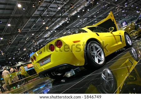 Corvette C06 at London Motorshow - stock photo