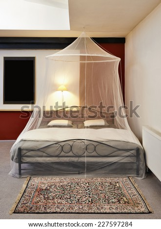Mosquito net stock images royalty free images vectors for Loft net bed