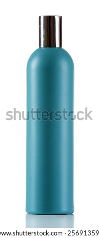 Cosmetic bottle isolated on white - stock photo