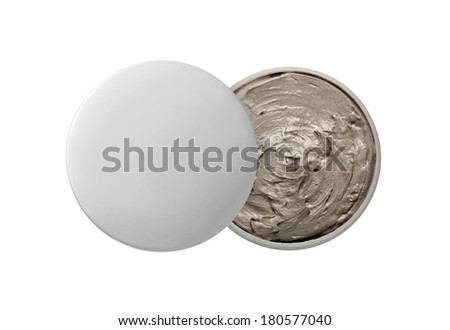 Cosmetic clay isolated on white - stock photo