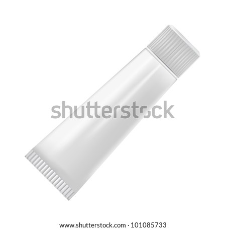 cosmetic containers isolated on white